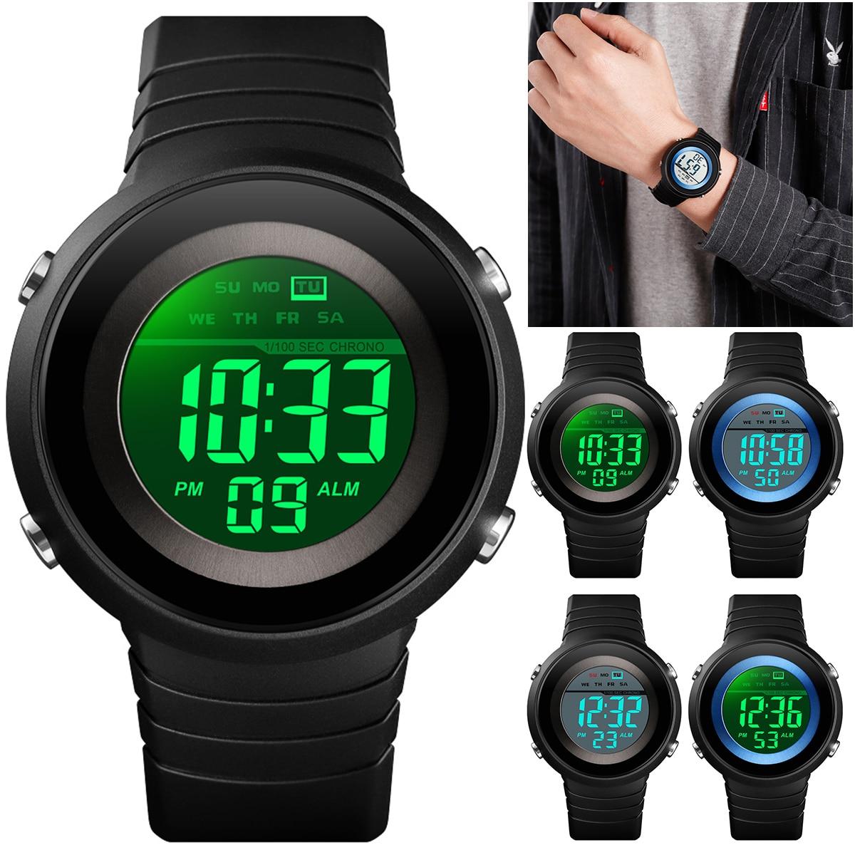2019 Children's 50M Waterproof Watches Kids EL backlight Sport Alarm Watch for Boys Girls Men Women Electronic Wrist Watch
