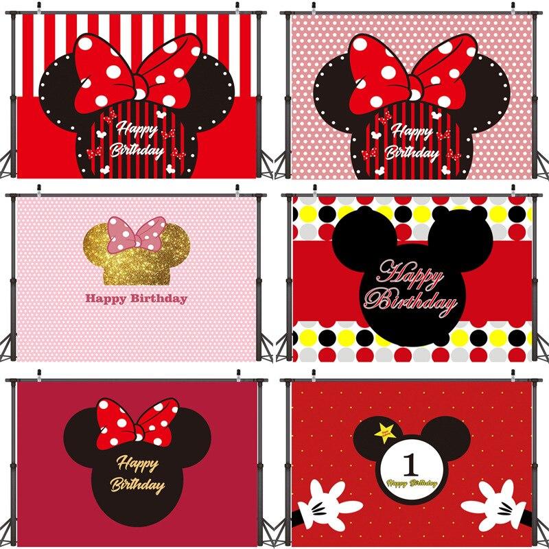 Mickey aniversário fundo tapeçaria pano mickey festa de aniversário decoração 210*150cm