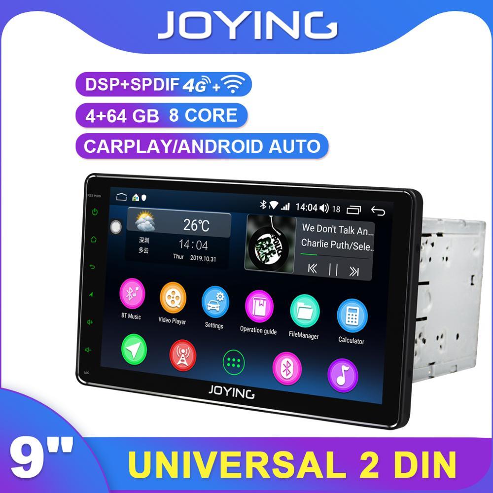"Carplay AHD 1280*720 2Din 9 ""Android Universal auto Radio estéreo DSP GPS SPDIF Subwoofer WiFi 4G SIM Bluetooth 5,1 DVR DAB TPMS"