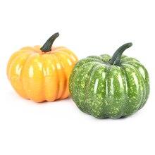 1PCS Realistische Lebensechte Künstliche Kürbisse Gefälschte Display Lebensmittel Decor Home Party Decor 2 Farben