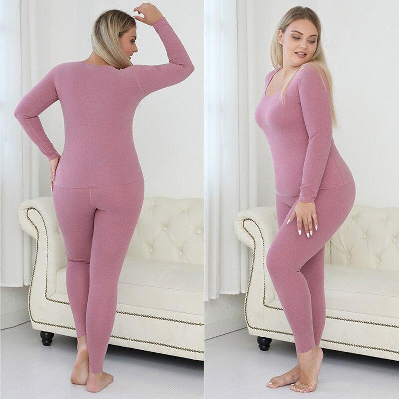 رداء علوي حراري للنساء من Ropa Termica Mujer مقاس كبير 5xl ملابس داخلية للشتاء ملابس داخلية حرارية قميص علوي للسيدات