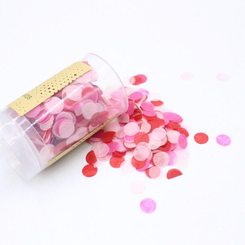 1 PC Heart-shape Confetti Push Poppers colourful round Confetti Push-pop birthday decoration Wedding happy birthday Push Pop