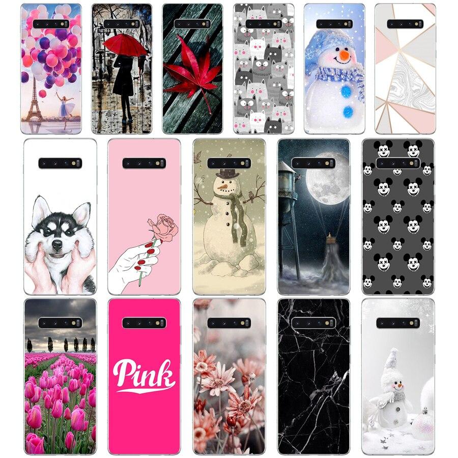 G para Samsung Galaxy S10 funda de silicona TPU funda de teléfono trasera de impresión suave para Samsung S10 Plus GalaxyS10 S 10 s10Plus bolsa caso