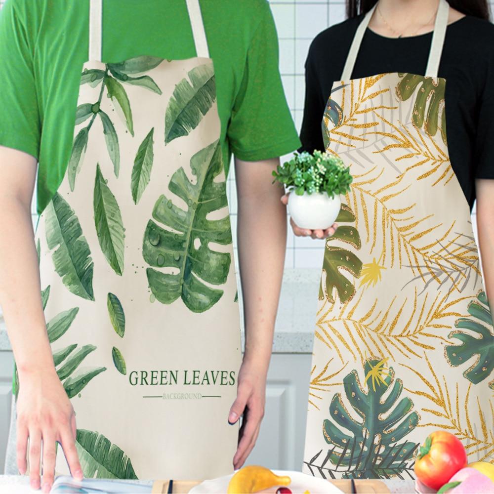 Кухонный Фартук с принтом растений, без рукавов, 68x55 см, 0026