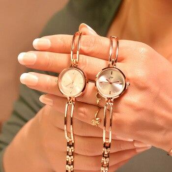 Маленькие женские кварцевые Часы с цепочкой