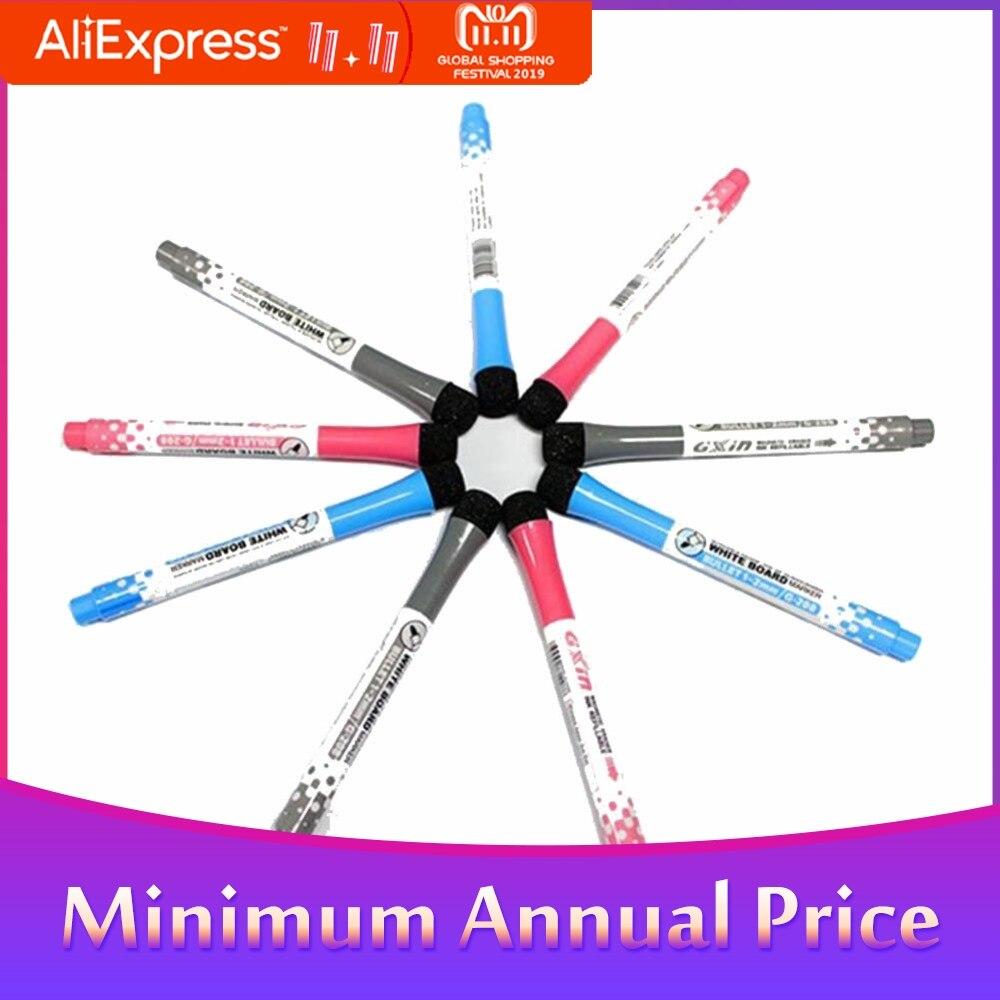 Bolígrafo marcador de trapo magnético fácil no tóxico portátil lindo bolígrafo de pizarra con borrador suministros de oficina y escuela