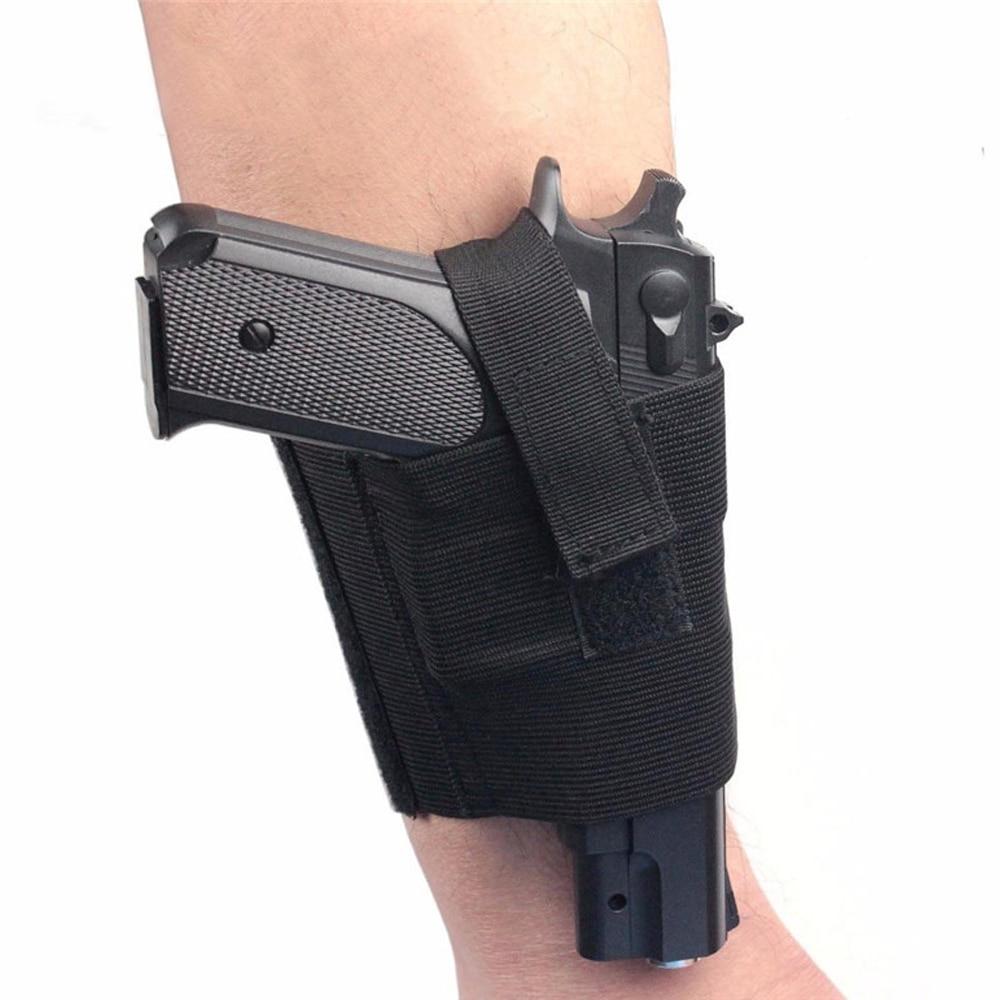Funda de pistola Universal de transporte oculto, funda de pistola para tobillo, Correa derecha izquierda para pierna, pistola acolchada, bolsa, equipo táctico para exterior