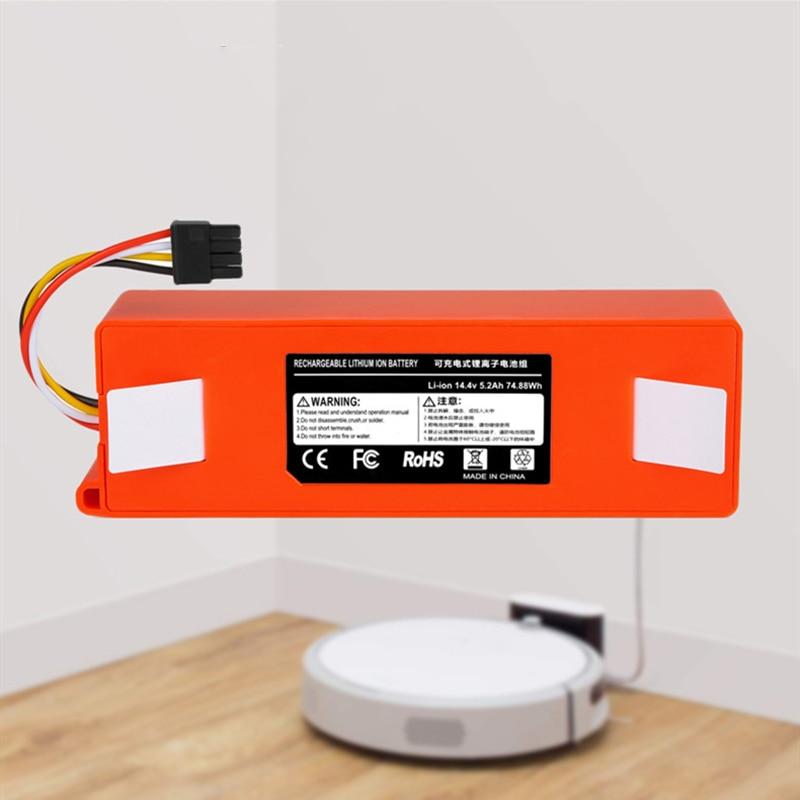 جديد 100% 9800mAh 14.4 فولت 6.5Ah بطارية ليثيوم أيون مكنسة كهربائية ملحقات ل شاومي mi روبوت روبوت روبوت نظافة roborock S50 S51 T4