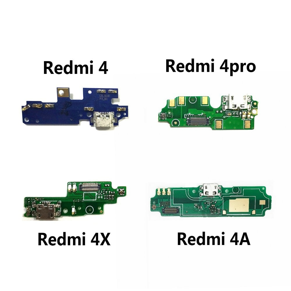 (5piece)For Xiaomi Redmi 4 Pro / Redmi 4X 4A USB Charging Port Jack Dock Plug Connector Charge Board Flex Cable With Microphone
