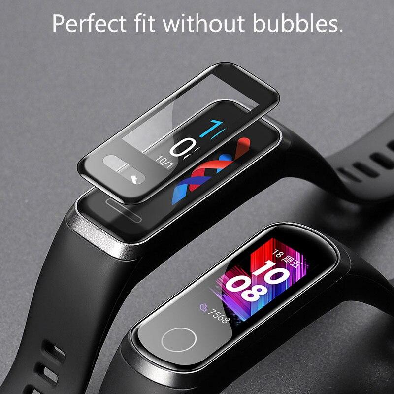 Protector de pantalla para Huawei Band 4 película protectora suave para honor band 5i cristal antiarañazos sin burbujas (vidrio No templado)