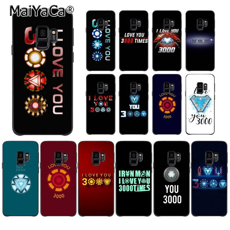 MaiYaCa Marvel Hombre de Hierro te amo 3000 suave de TPU teléfono caso para Samsung S9 S9 más S5 S6 S6edge S6plus S7 S7edge S8 S8plus cubierta