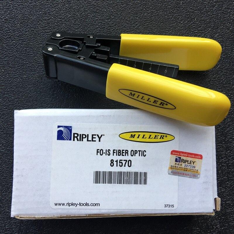 Оригинальные импортные Миллер FIOS оптическое волокно для зачистки FO-IS зачистки Клещи 81570 кожа Оптическое волокно кабеля инструмент