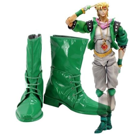Jojo bizarre s bizarra aventura 2 caesar anthonio zeppeli cosplay botas sapatos homens traje personalizado acessórios festa de halloween sapatos