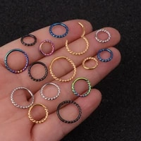 1pc 681012m nose hoop helix cartilage earring daith snug rook tragus ring ear piercing jewelry