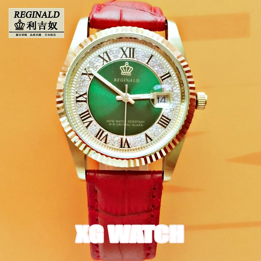 2020 Quartz Watch For Girls Luminous Fashion Full Gold 36mm Big Dial Plate Leather Strap Diamond Couple Watch Quartz Watch enlarge