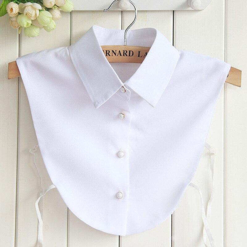 Fashion High Grade Shirt Fake Collar Women False Chiffon Removable Mujer Detachable Lapel Blouse Top