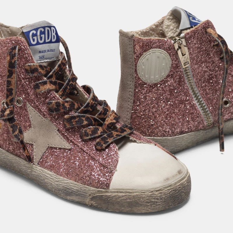 Parent-Child 2021 Spring and Summer Pink Sequined Stars Children's Retro Old Small Dirty Shoes Boys and Girls Casual Shoes QZ09 enlarge