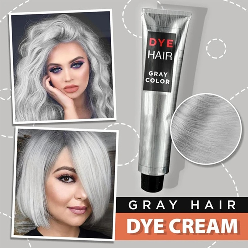 New Smoky Gray Punk Style Light Grey Silver Grandma Gray Hair Dye Color Unisex Color Hair Wax Dye Cream Fashion Hair Color TSLM1