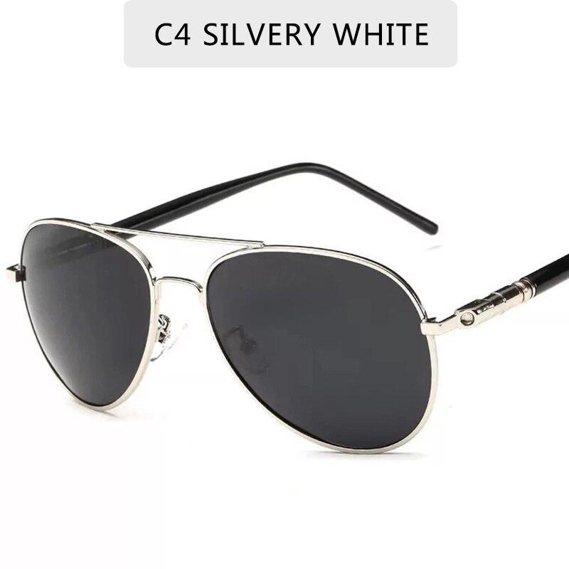 Солнцезащитные очки Мужские поляризационные, винтажные авиаторы, дизайнерские, UV400