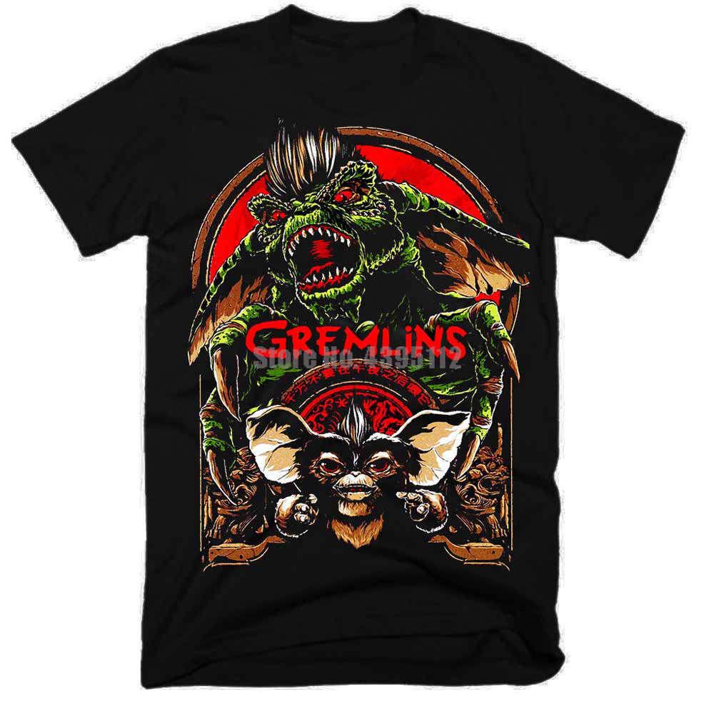 Gremlins película Hombre Camisetas raras tiro con arco camisas de marca Cool camisetas Cool Things Qxrpzj