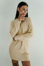 New Women Winter Fleece Fluffy Sweater Dress Jumper Mini Dress Sexy Backl Hollow Out Ladies Warm Solid Pullover Dress Long Tops