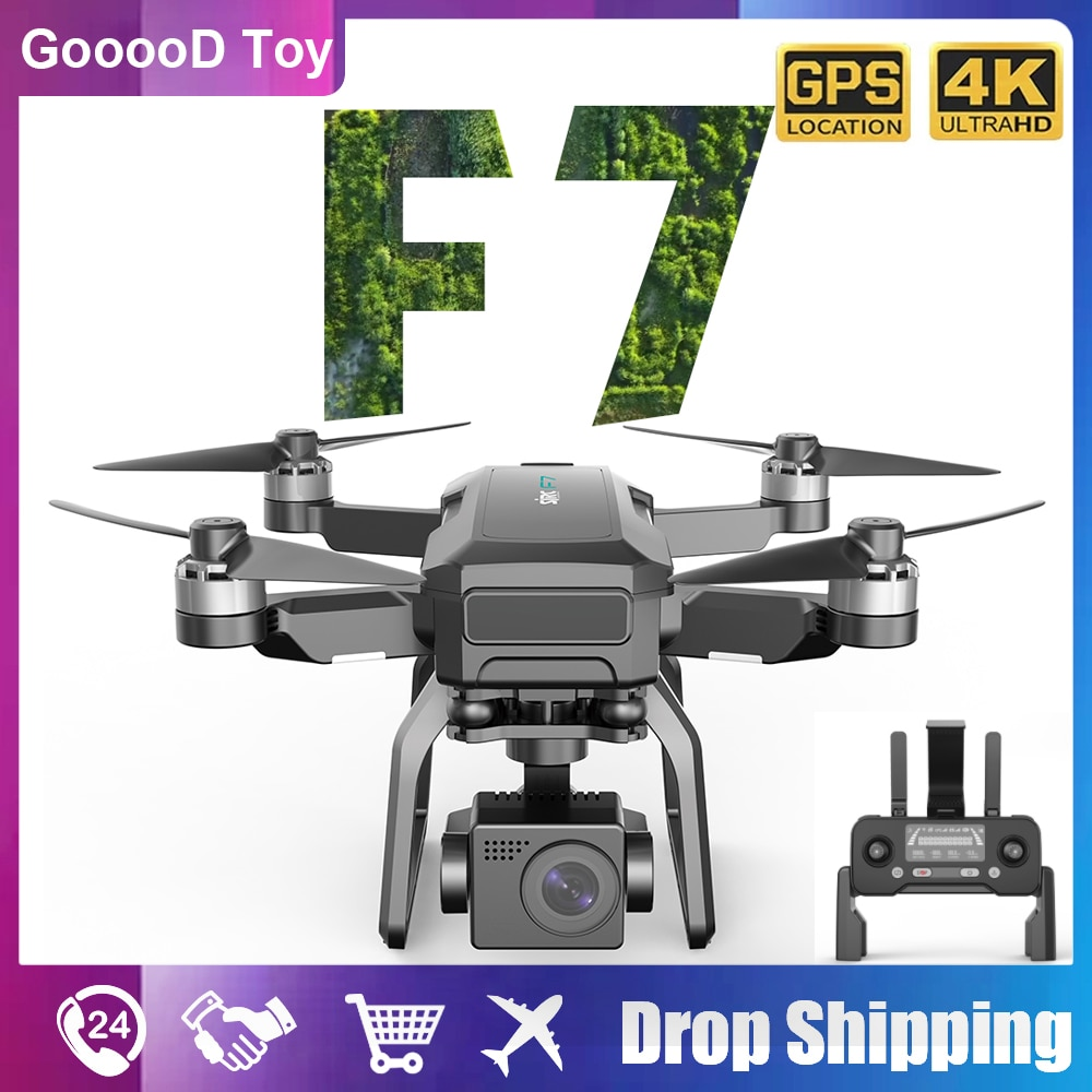 F7 4K GPS RC Drone profesional Quadcopter with Gimbal camera Hd 5G WIFI FPV Brushless Motor 3KM Rc Helicopter Quadcopter dron