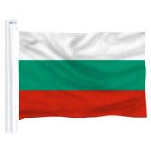 DFLIVE Bulgarien Land Flagge 3x5 FT Gedruckt Polyester Fly 90x150 CM Bulgarische BG Nationalen Banner