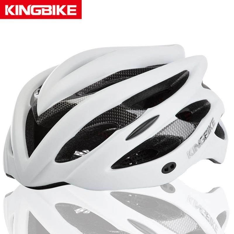 Kingbike capacetes de bicicleta capacete de ciclismo mtb capacete da bicicleta de estrada das mulheres dos homens integralmente moldado ultraleve capacete mtb