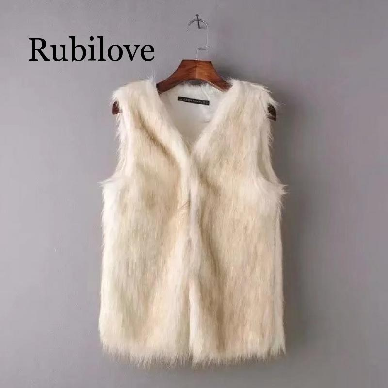 Rubilove 2019 autumn and winter new European American style womens wool vest