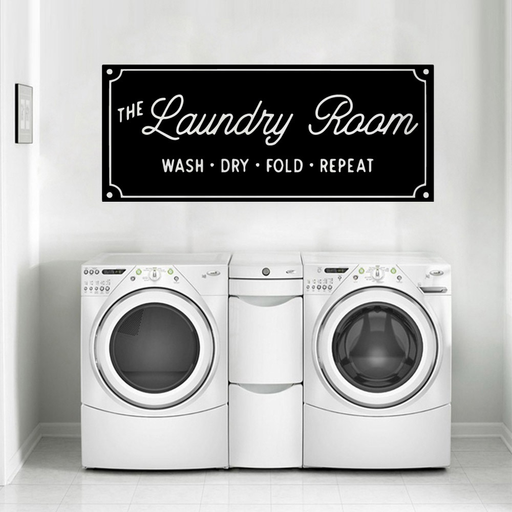 Creative Laundry Room Vinyl Wall Stickers Removable Wallpaper For Decor Decal Commercial Murals