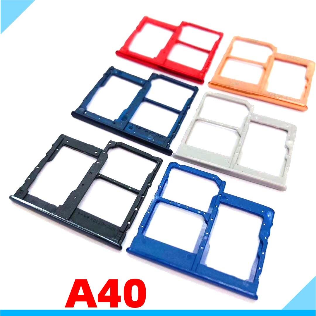Dual Sim Card Slot Repair For Samsung Galaxy A40 A405 A405F A405FN A405FM Nano SIM Micro SD Card Tra