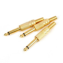 10Pcs Plug Set Replacement Connector Soldering Audio Jack 72mm Transmission Home Gold Plated Accesso