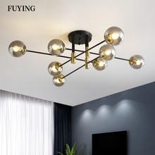 2021 Modern LED Chandelier E27 Ball Light Nordic Ceiling Light Living Room Kitchen Light Home Decoration Interior Lighting