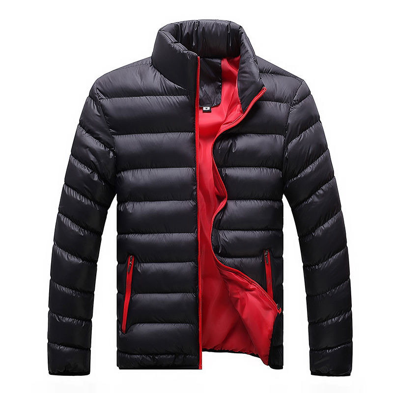 Зимняя мужская куртка 2020, модная мужская парка с воротником-стойкой, мужские однотонные толстые куртки и пальто, мужские зимние парки