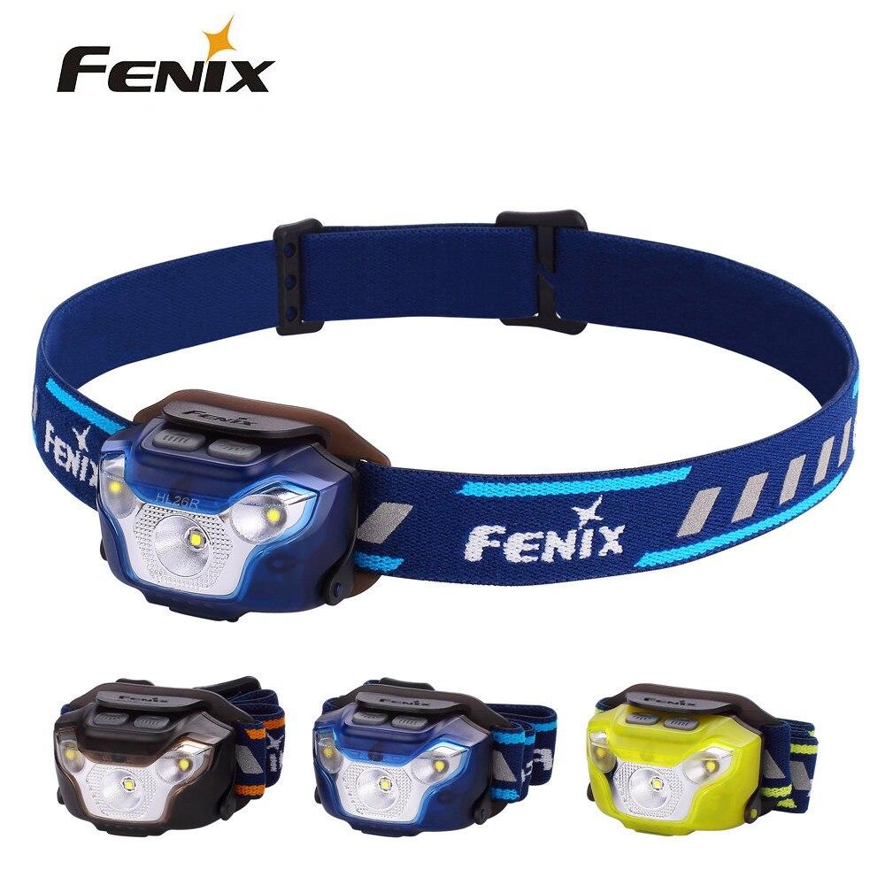 Fenix hl26r cree XP-G2 r5 led 450 lumens ultra leve usb recarregável farol para caminhadas, acampamento e montanhismo