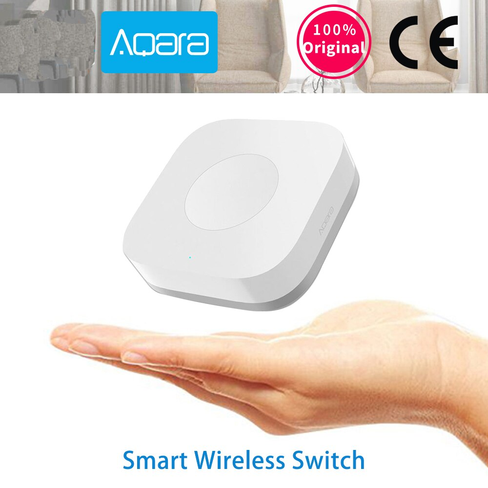 Умный беспроводной переключатель Aqara ZigBee, умное приложение для дистанционного управления гироскопом, 1 ключ, для Xiaomi Mijia SmartHome