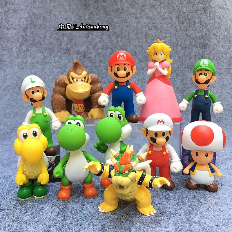 Игрушки Супер Марио, экшн-Фигурки Марио, Брос, Луиджи, Одиссея, ПВХ Игрушечные Фигурки Марио, аниме фигурка Супер Марио, модель