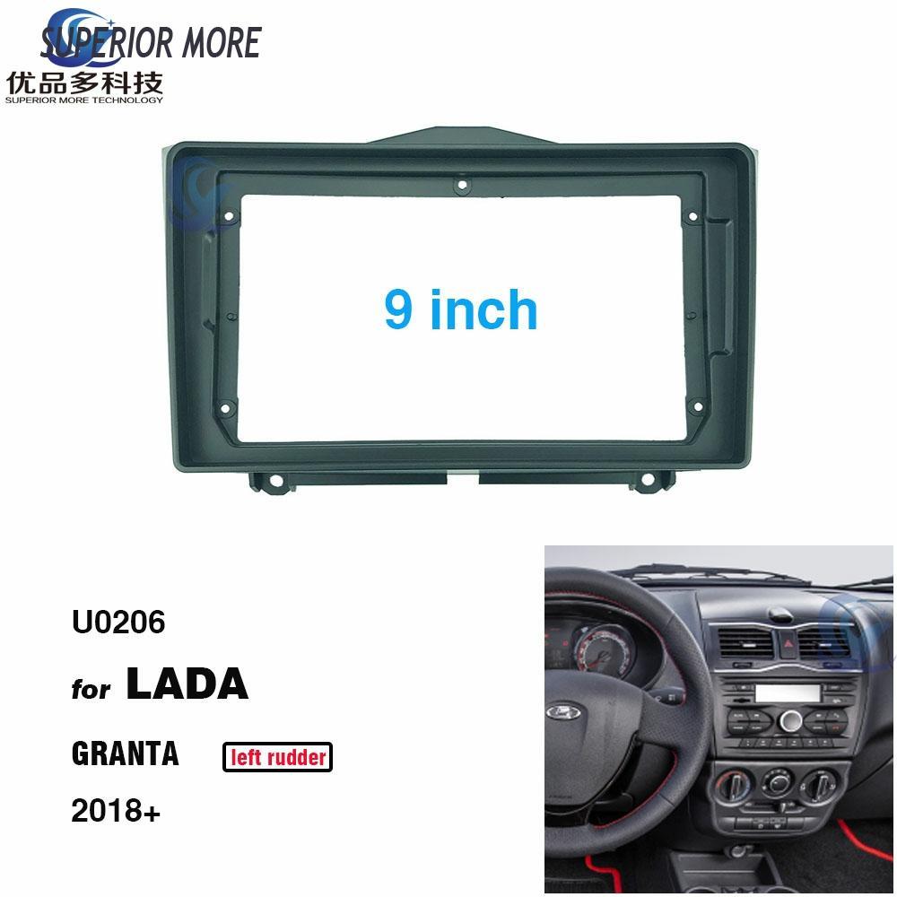 2din 9 zoll Auto Radio installation DVD GPS mp5 Kunststoff Fascia Panel rahmen für LADA GRANTA 2018 links ruder Dash mount Kit