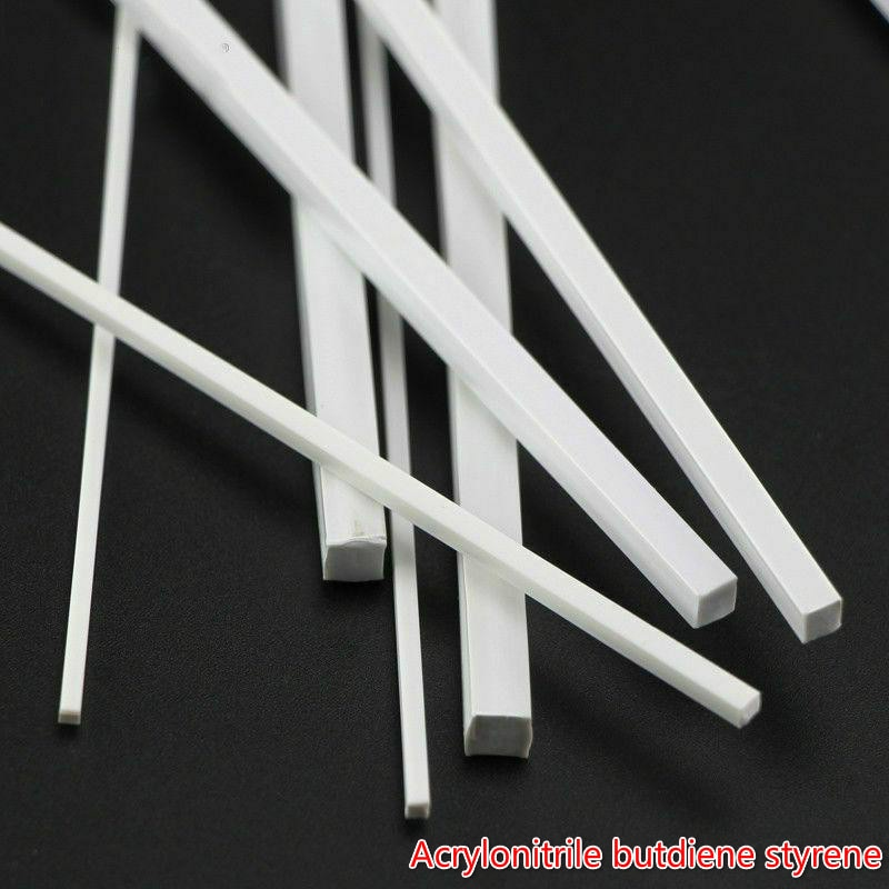 ABS Square Stick DIY Model Material Plastic Square Bar Material Building Model Material DIY Accessories Cutting Supplies