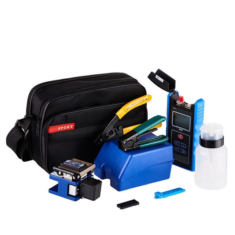 DEBAOFU FTTH optical fiber cooling tool set FC6S fiber cutting knife 5 km red light pen power meter integrated machine