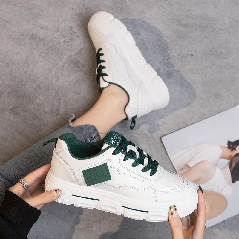 حذاء رياضي نسائي بنعل سميك ، مريح ، غير رسمي ، عالي الجودة ، مسامي ، 35-40 ، 2020
