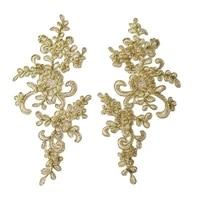1pcs high quality embroidery tulle lace fabric collar trim patches flower lace applique patch abziehbilder dentelle parches f31