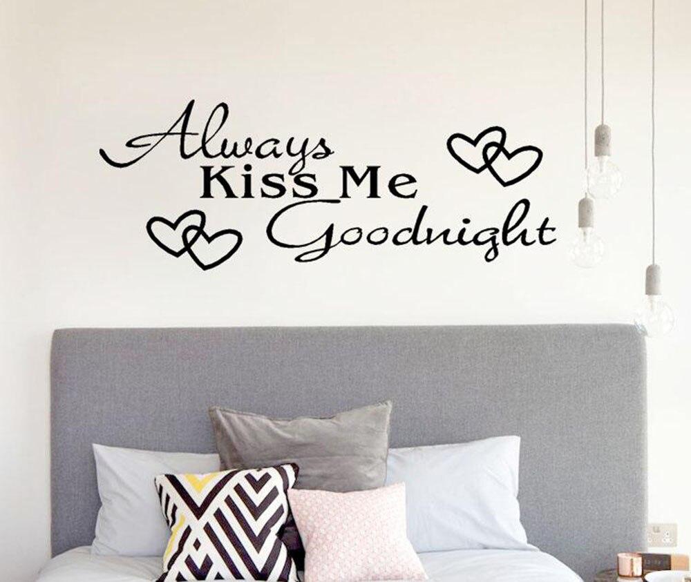Романтическая Наклейка на стену Kiss Me для дома, спальни, украшения для гостиной, наклейки на стену, декор Muralpegatinas