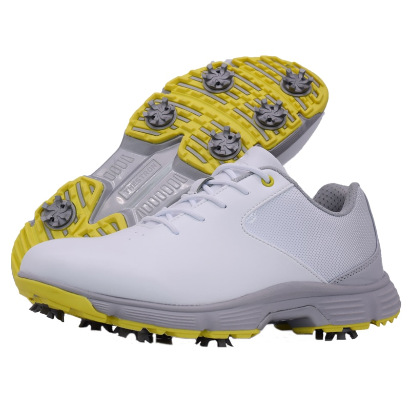 Professional men golf shoes dwaterproof water spikes black white male golf trainers golf trainers oversize golf shoes for men