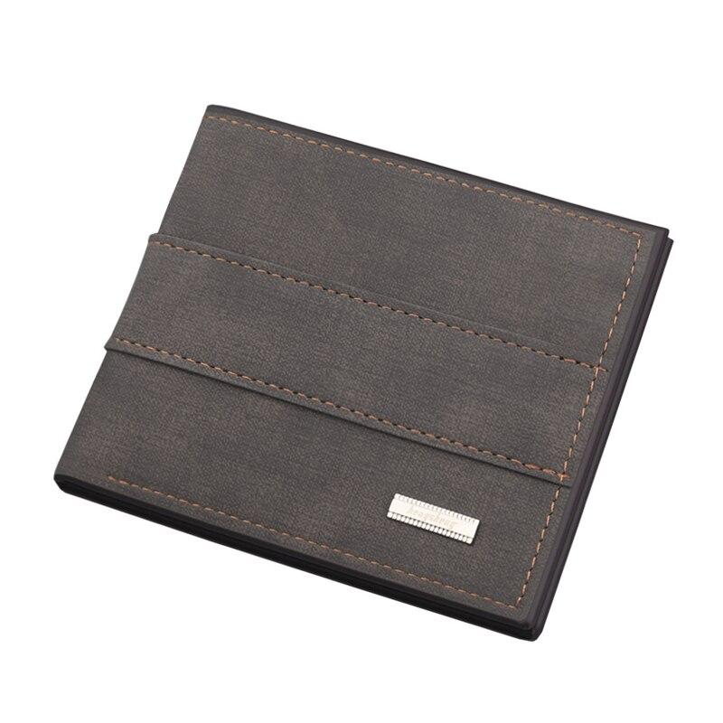 Мужские матовые бумажники в ретро стиле, соединяющиеся короткие кошельки с защелкой для мелочи, мужские кредитницы, зажим для денег