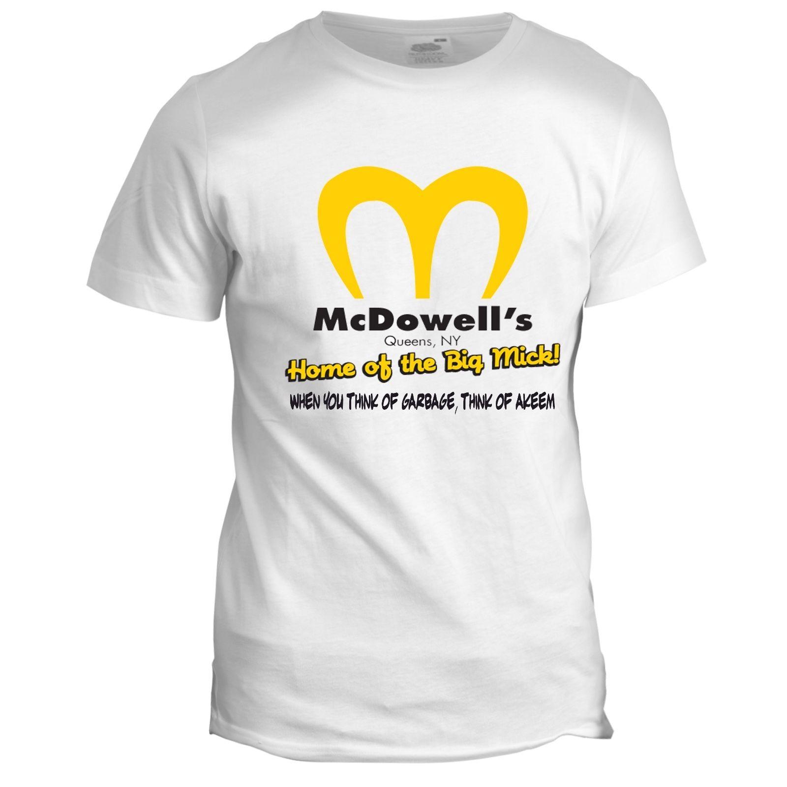 Coming to America Inspired McDowells Eddie Murphy Movie Film 80s 90s T Shirt Cool Casual pride t shirt men Unisex New Fashion