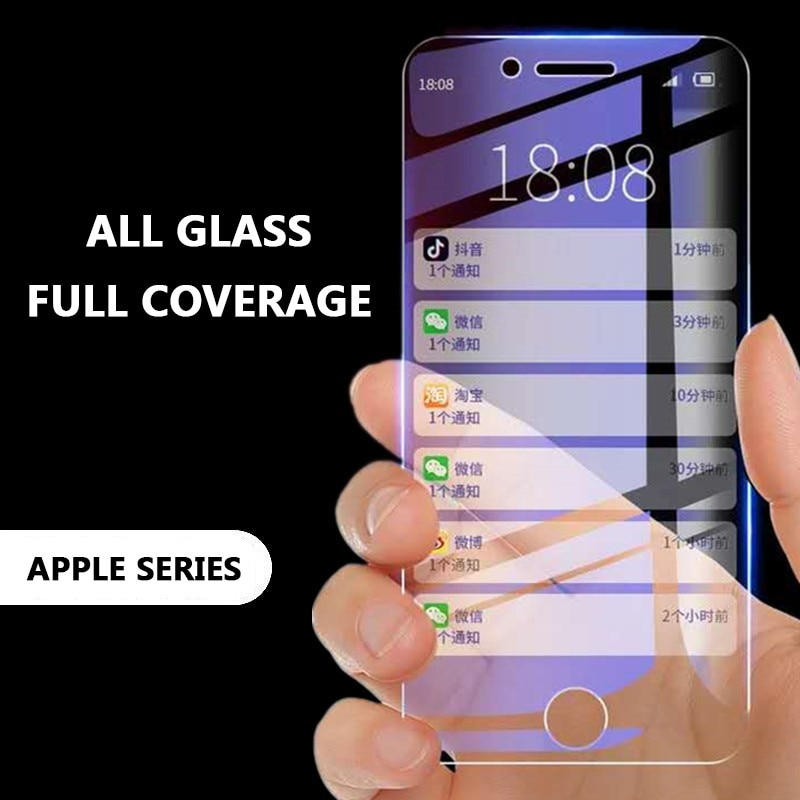 Vidrio Templado 9H a prueba de explosiones para iphone 5 6 7 6s 8 plus XS max XR glass iphone 7 8 x vidrio protector de pantalla iphone 7 6S 8