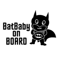 sf3376 vinyl car sticker batbaby on board reflective waterproof removable decal self adhesive car auto stickers