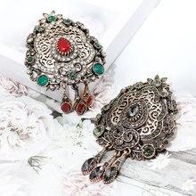 SUNSPICE Богемия булавки-брошки с кристаллами турецкий металлический шарф одежда цветок броши арабский серый камень ювелирные изделия Рождественский подарок