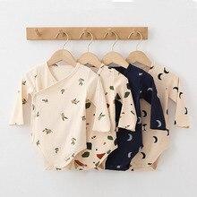 2021 New Baby Boy Girls Onesie Romper Floral Jumpsuits Clothes Autmn Long Sleeve Romper Kimonos Infa
